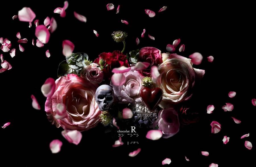「Chocolat R」在西洋情人節推出玫瑰之心+干邑蘭姆VSOP,用愛心和骷髏頭象徵Love & Hate,因熱銷成為長賣品。(Chocolat R提供)