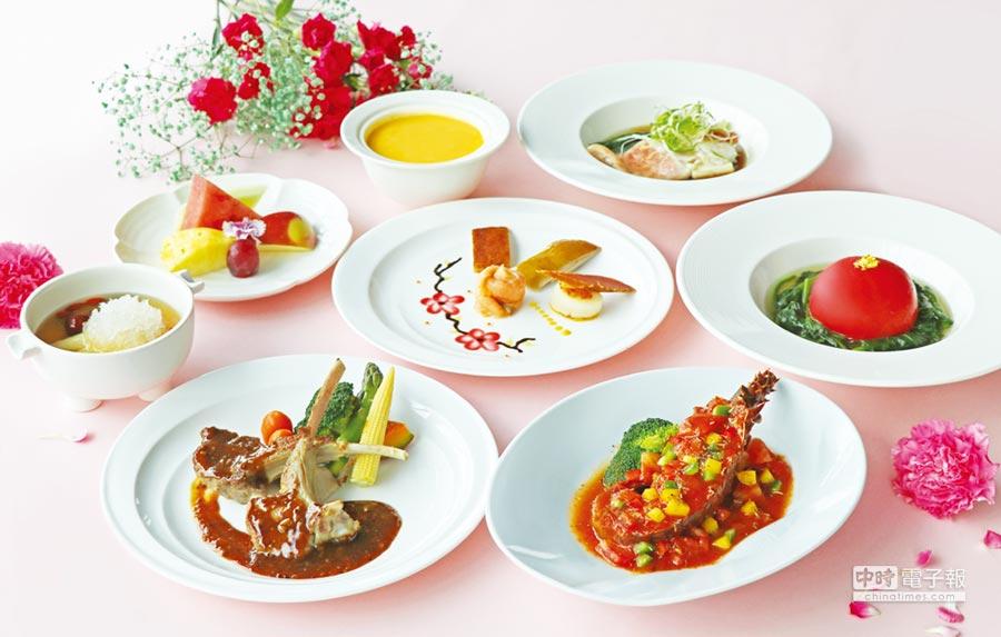 萬麗軒推出母親節「海陸極品」饗宴。圖/台北士林萬麗酒店提供