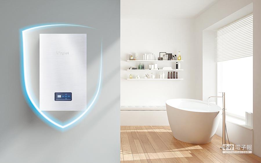 Dyhot全預混瓦斯熱水器節能、低排、恆溫、穩壓,為媽媽也為全家人打造一個健康舒適的沐浴環境。圖/業者提供