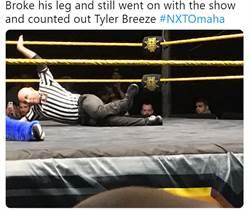 影》好痛!摔角裁判失誤跌斷腿