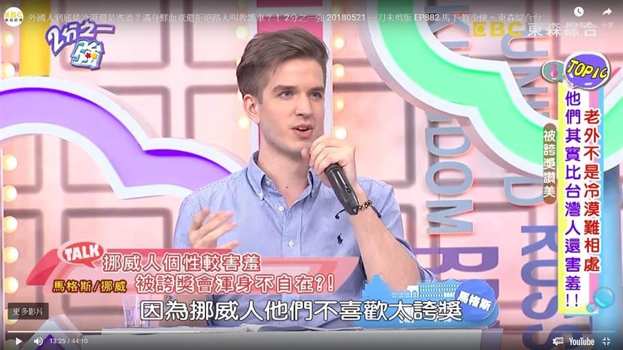 马格斯曾上外国人访谈节目。