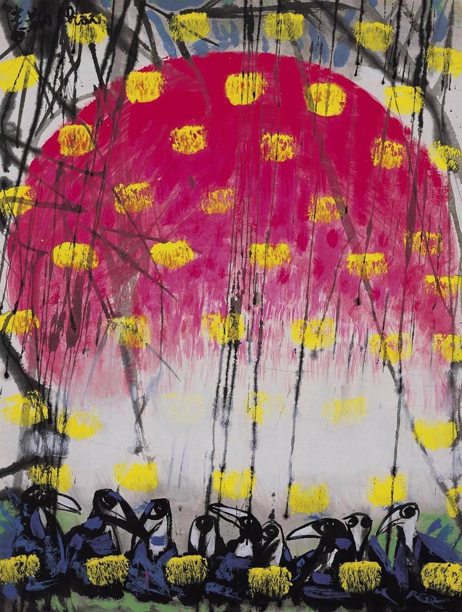 趙春翔的精彩作品 20多年前台灣藏家出價百萬港幣標回。(戴忠仁提供)