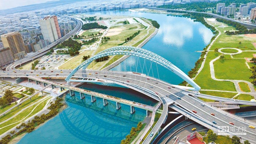 中正橋改建案將於5月6日動工,交通局將分4階段進行交通改道及維持計畫。(北市新工處提供)