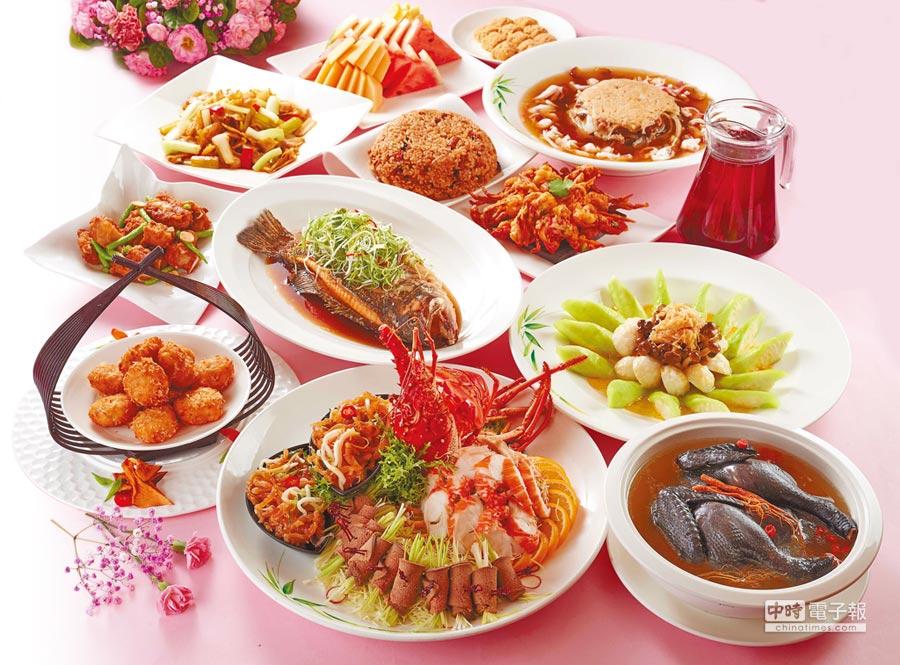台菜餐廳「蓬萊邨」設計出母親節單點菜單,讓媽媽們重溫青春記憶中的美味。(台北福華大飯店提供)