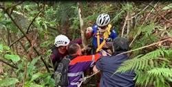 命大!騎單車跌山谷 樹欉救一命