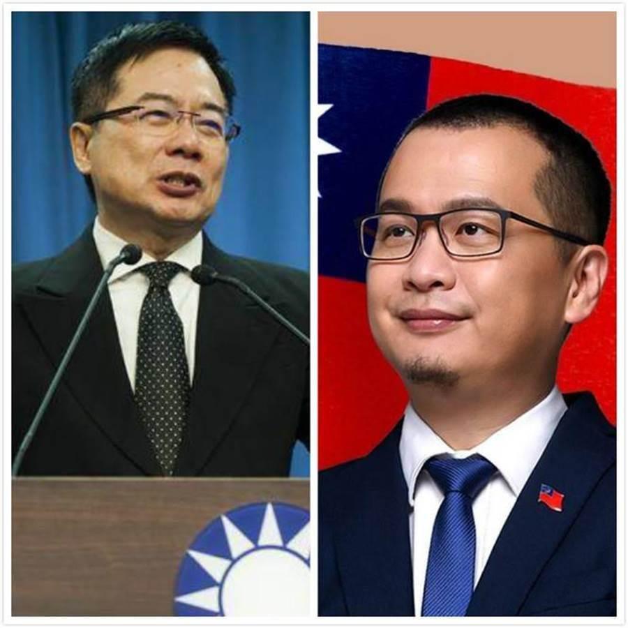 羅智強(右)和蔡正元(左)。(圖為資料照)