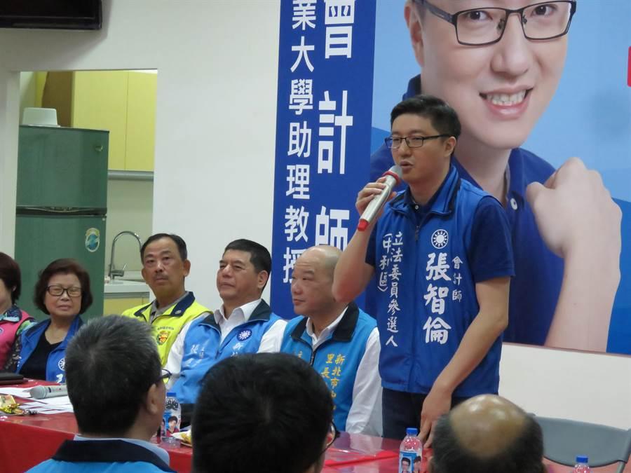 新北市第八選區(中和)立委擬參選人張智倫。(葉書宏攝)