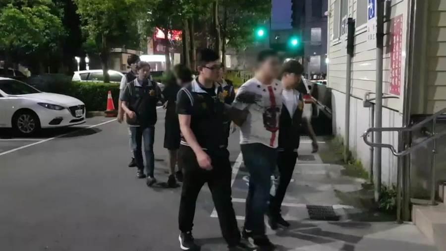 警方將郭男等4人依殺人未遂罪嫌將4人移送法辦。(譚宇哲翻攝)