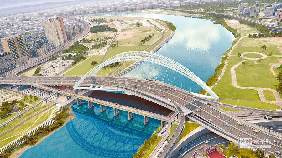 重慶南路高架橋拆除後恢復為平面道路模擬示意圖。(台北市政府工務局新建工程處提供)