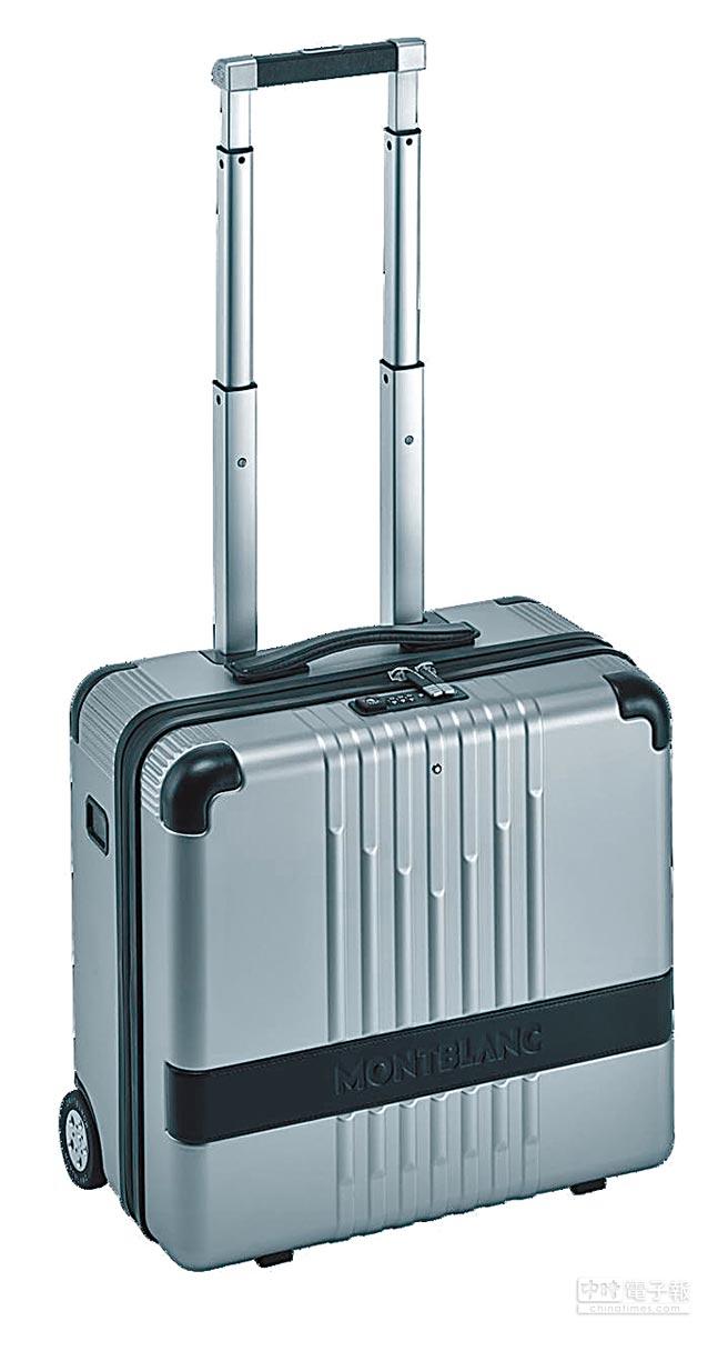 萬寶龍#MY4810系列銀色登機箱,2萬3000元。(Montblanc提供)