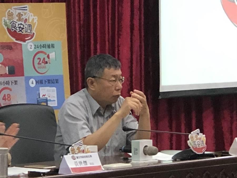 面對前總統陳水扁預計於5月5日舉行新書發表會,柯文哲表示「哪有甚麼問題不去?」(吳堂靖攝)