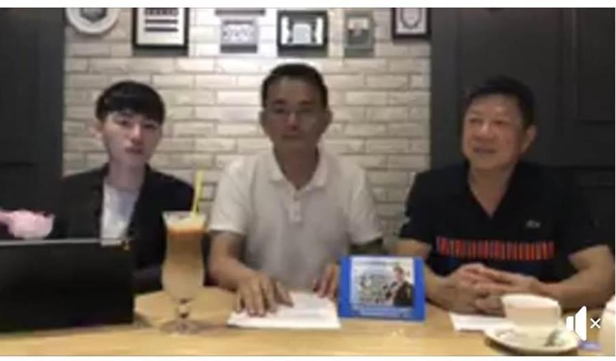 新北市第12選區立委擬參選人簡榮宗28日接受臉書社團「我是汐止人」的直播採訪。(翻攝臉書)