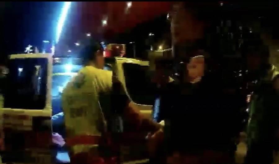 警方将受伤男子送中港澄清医院就医,无生命危险。