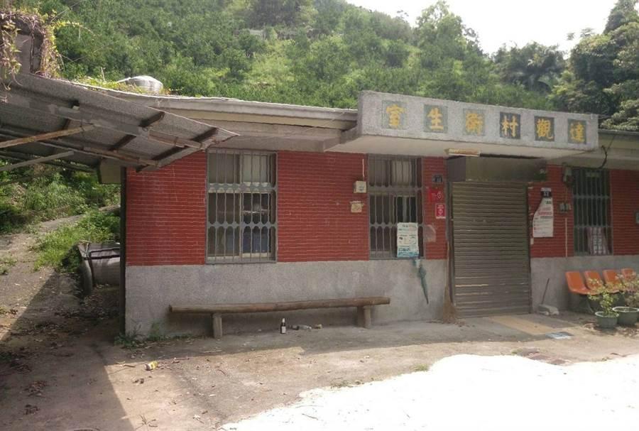 台中市達觀衛生室建物老舊,建造至今已逾38年。(王文吉翻攝)
