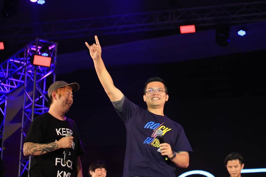 台中市新聞局長吳皇昇表示,信守對樂迷承諾 ,台中市府9月續辦「搖滾台中」。(盧金足攝)