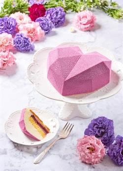 沒有花的母親節蛋糕也吸睛!幾何立體愛心蛋糕限定上市