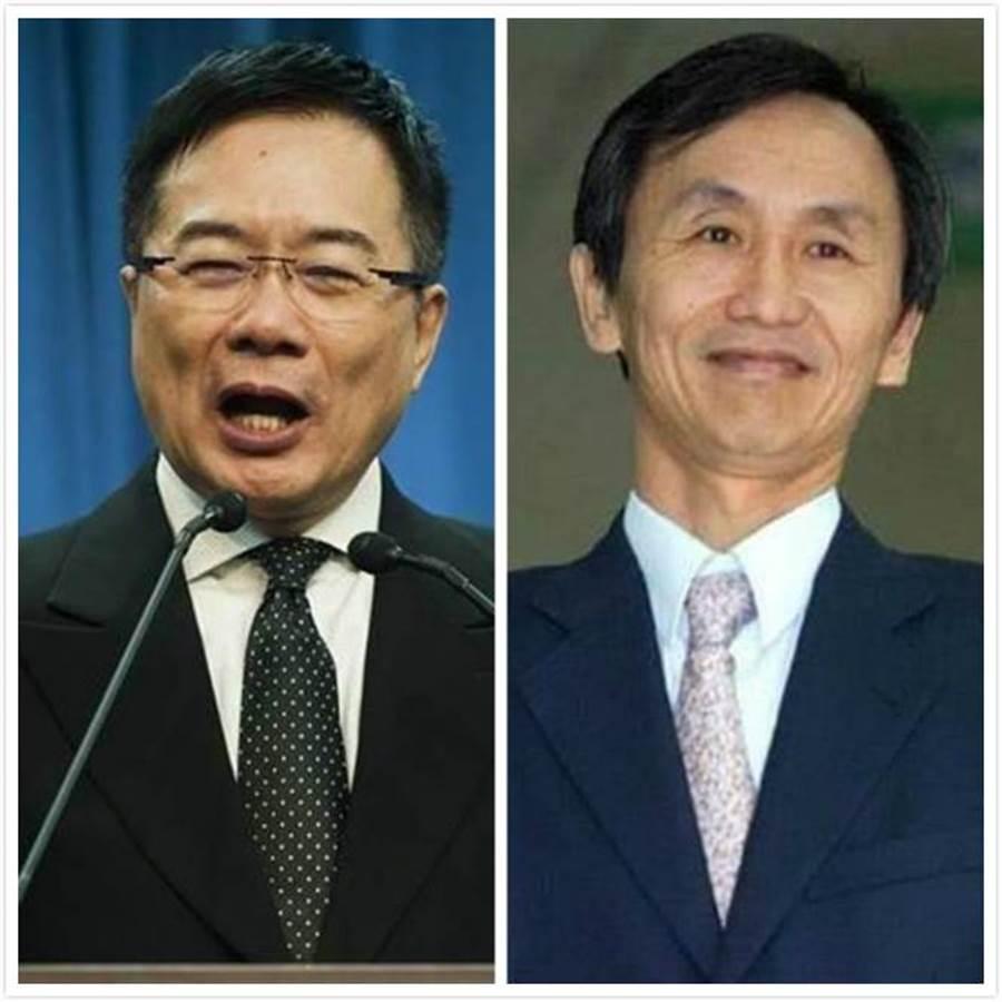 吳子嘉(右)和蔡正元(左)。(圖為資料照)
