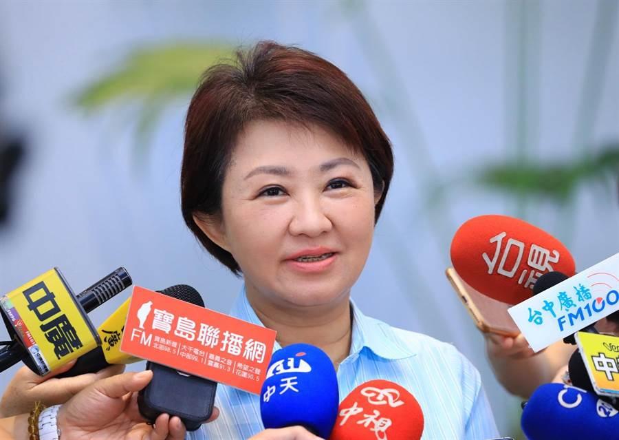 台中市長盧秀燕表示,空汙是整體問題,台中市政府除支持南投縣長林明溱向中火提告,未來也不排除跟進。(盧金足攝)