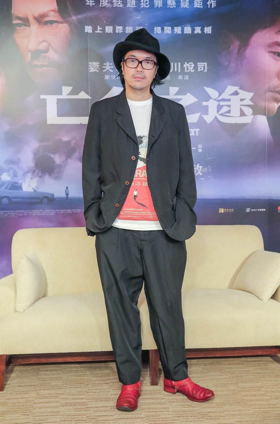導演半野喜弘受訪時不忘稱讚台灣演員表現傑出。(盧禕祺攝)
