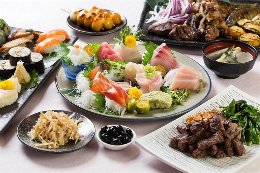 Buffet用餐形式的「彩日本料理」餐廳,讓賓客暢快吃豐富道地的日本料理。(台北君悅酒店提供)