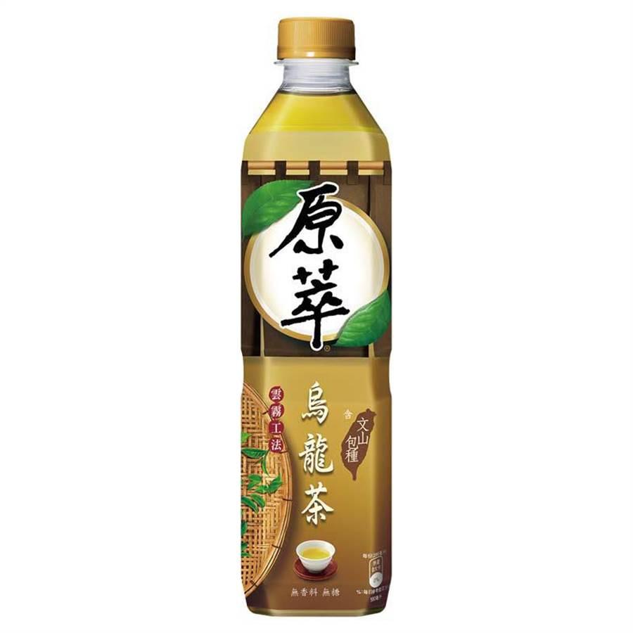 愛買「原萃烏龍茶580ml x 4」,5月1日原價100元、特價69元。(愛買提供)