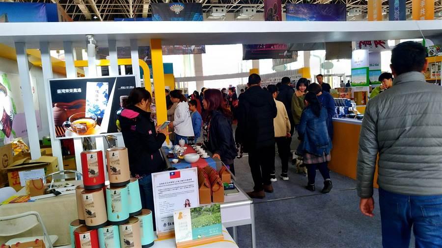 台中市府表示,參加山東壽光蔬菜科技博覽會行銷農產品,後續還有洽詢訂單,增加台中市優質農產品市場曝光度及通路。(圖/台中市府提供)