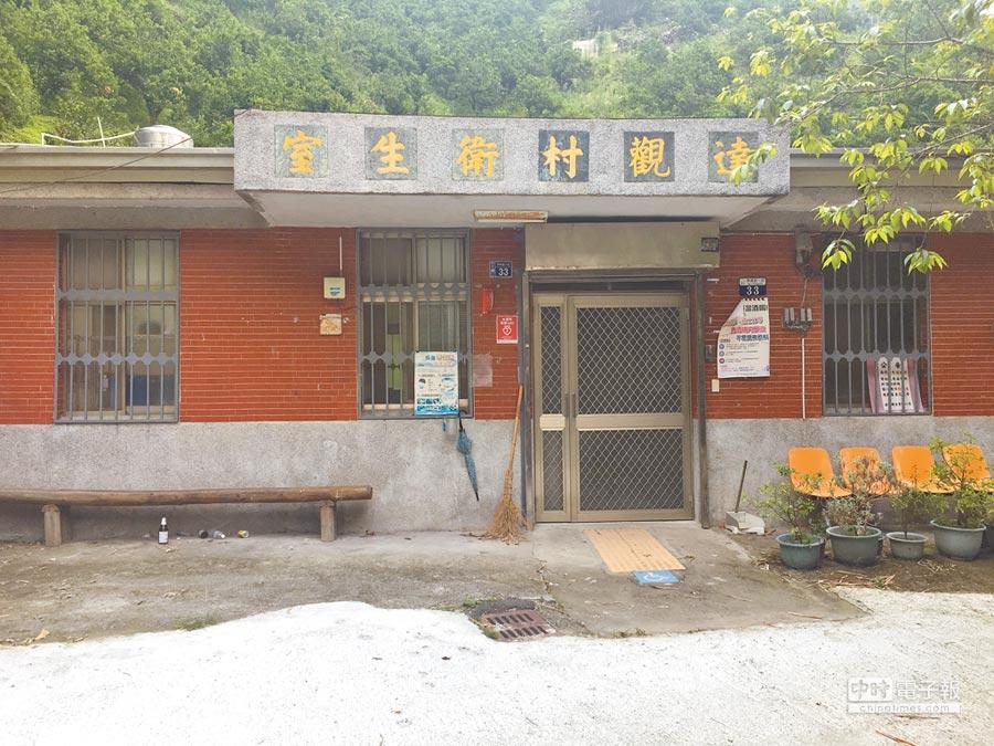 台中市達觀衛生室建物老舊,建造至今已逾38年,每周由編制內醫師看診1次,每診次平均服務32位病患。(王文吉攝)