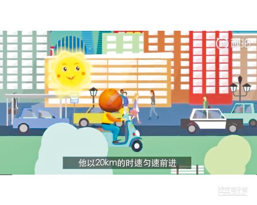 《顫抖吧肉包鐵》提醒民眾要遵守交通規則。(截圖自微博@警名直通車-上海)