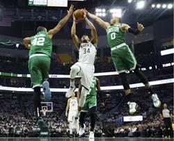 NBA》字母哥發飆 公鹿變陣獵殺綠衫軍