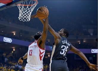 NBA》KD與浪花弟聯手 勇士擊退火箭