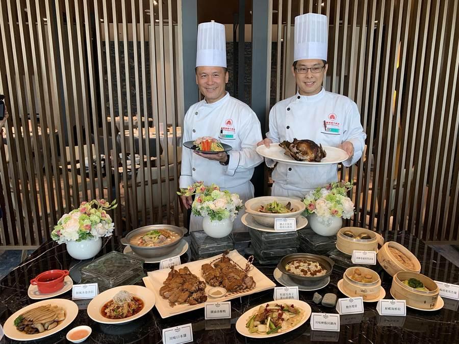 高雄福華飯店「珍珠坊」斥資上千萬全新改裝,端出全新菜色征服民眾味蕾。(柯宗緯攝)