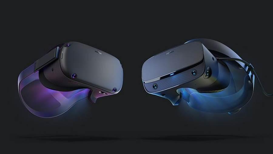 獨立式 VR 頭戴式裝置 Oculus Quest (左)與PC VR頭戴式裝置 Oculus Rift S 今日開放預購。(圖/Facebook 提供)
