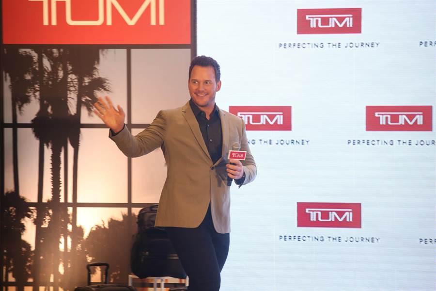 克里斯普瑞特十多年來一直是TUMI愛用者,這次擔任TUMI亞太及中東區品牌大使相當興奮。(TUMI提供)
