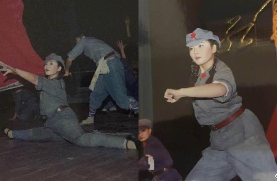 劉濤曝舊照鼓勵年輕人。(圖/翻攝自微博)