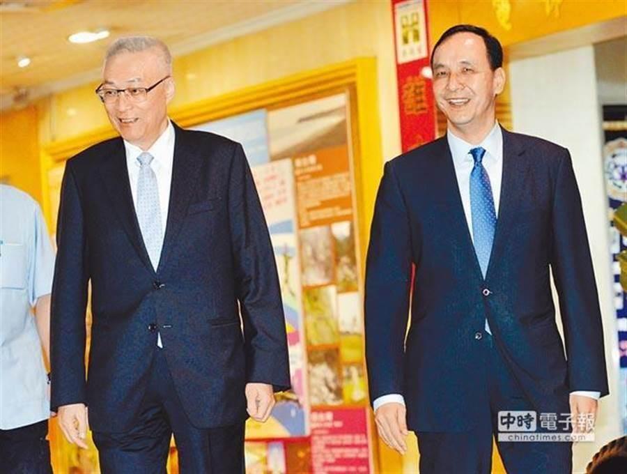 國民黨主席吳敦義(左)、前新北市長朱立倫(右)。(圖/本報資料照片)