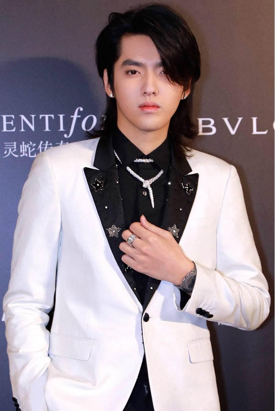 寶格麗品牌代言人吳亦凡出席《SerpentiForm》靈蛇傳奇珠寶藝術展開幕派對。(BVLGARI提供)