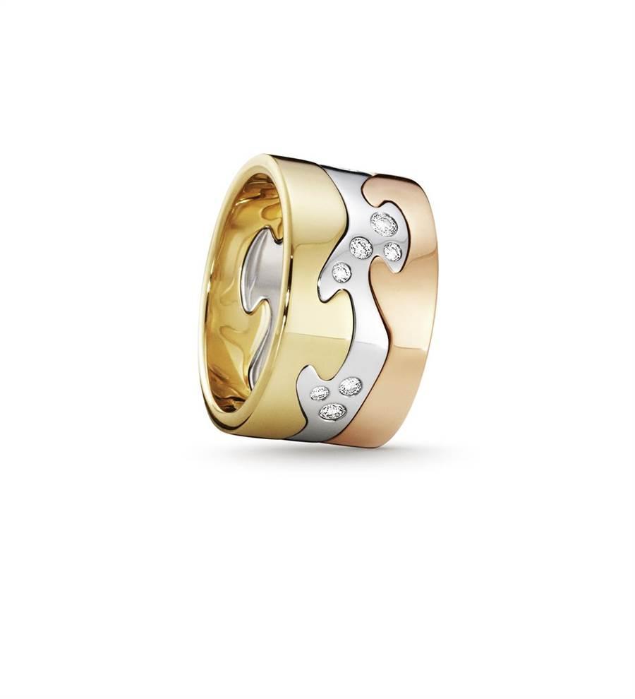 喬治傑生FUSION 18K金鑽石戒指,11萬1900元。 (GEORG JENSEN提供)