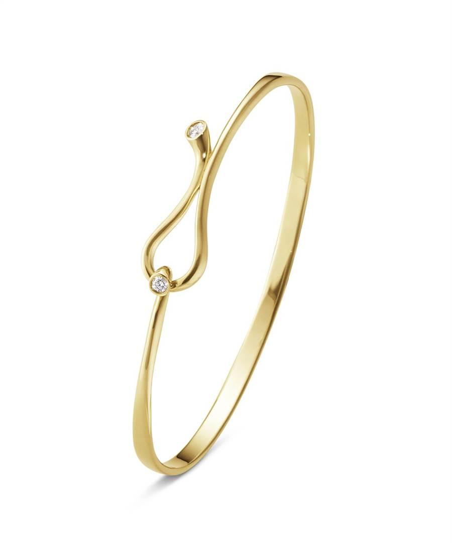喬治傑生MAGIC系列18K黃金鑽石手鐲,7萬9000元。 (GEORG JENSEN提供)