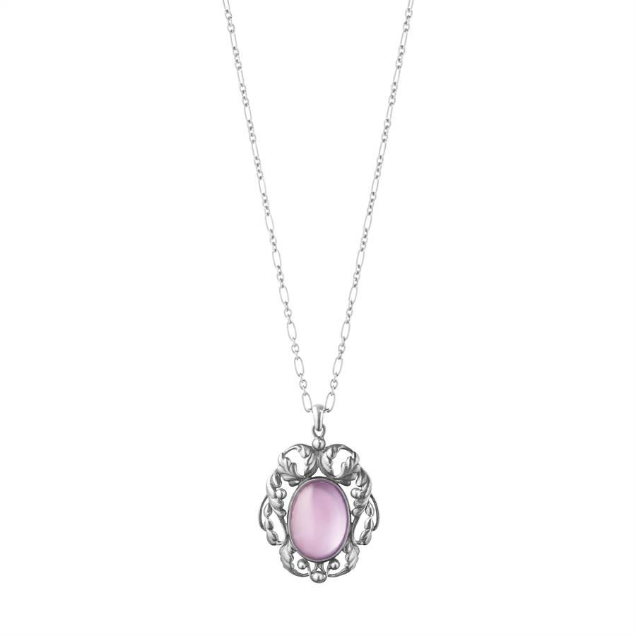 喬治傑生MOONLIGHT BLOSSOM No.73 純銀紫丁香水晶項鍊,2萬2500元。 (GEORG JENSEN提供)