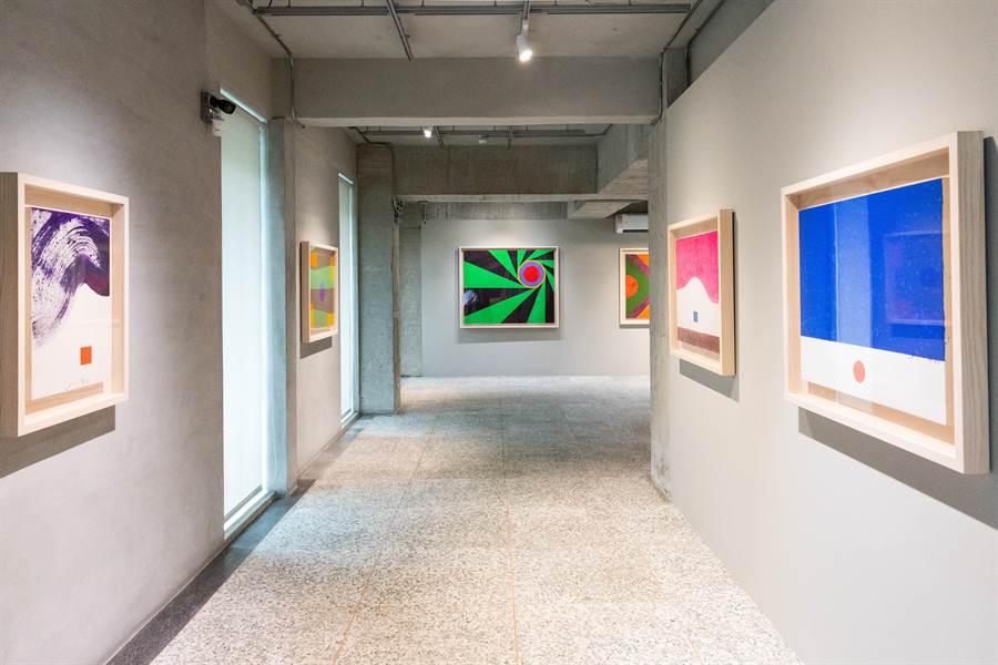 《禪色.向蕭勤致敬》5月2日起至11月3日於金馬賓館當代美術館展出。(袁庭堯攝)