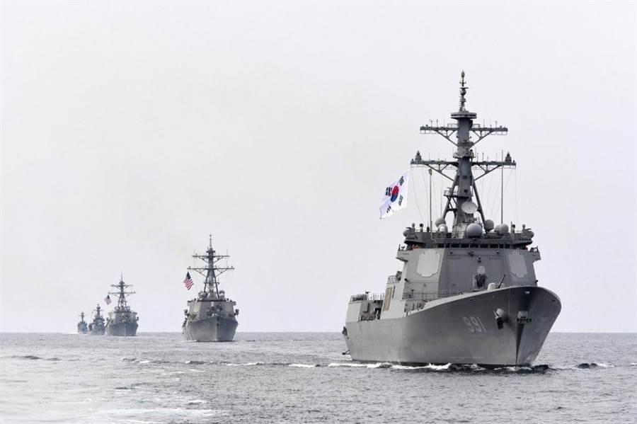 韓國計畫再做3艦神盾驅逐艦,完善反導能力。(圖/韓國海軍)