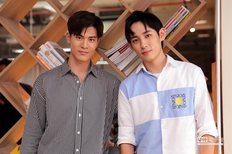 《圈套》兩位男主角吳承洋(左)、徐鈞浩(右)日前接受《中時電子報》專訪。(圖/記者廖映翔攝)