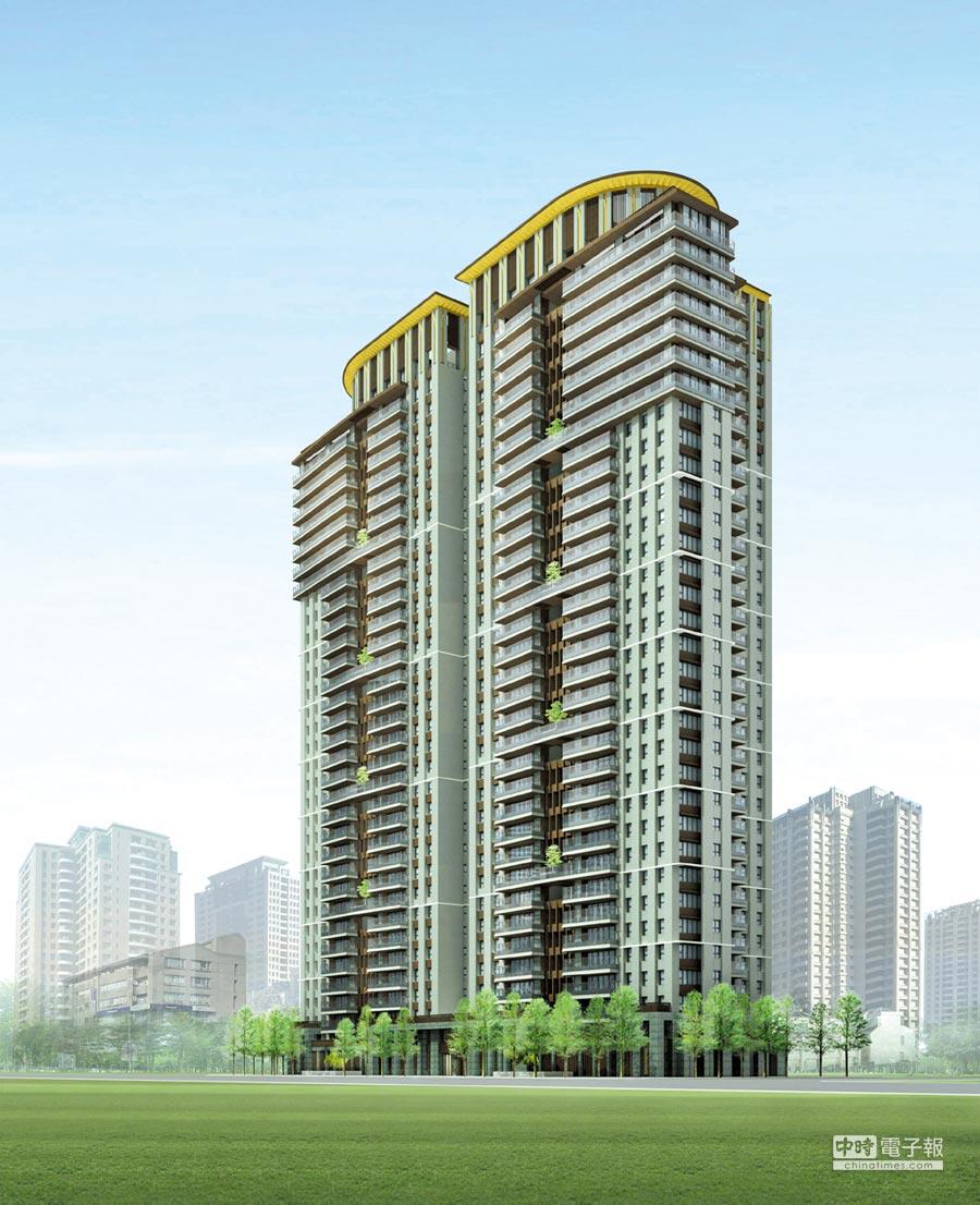 皇苑建設的大坪數豪宅建案「御皇苑」,4月30日動土,預計2024年完工。圖/皇苑建設提供