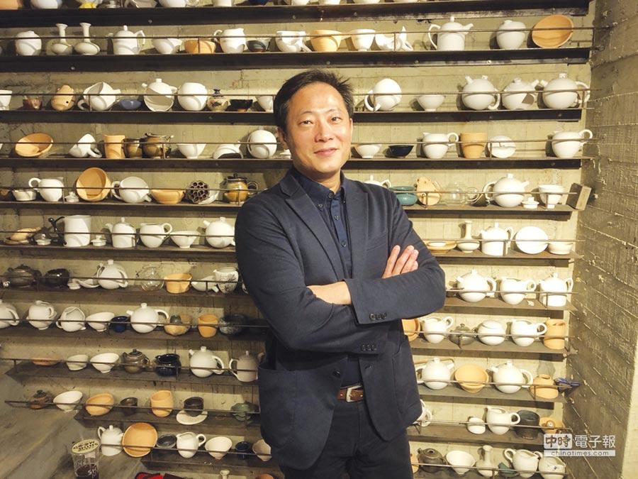 宜龍企業董事長陳世河表示,「喝茶天」這個品牌要傳達的是慢生活與代表鶯歌陶瓷人文風情。圖/胡鈞