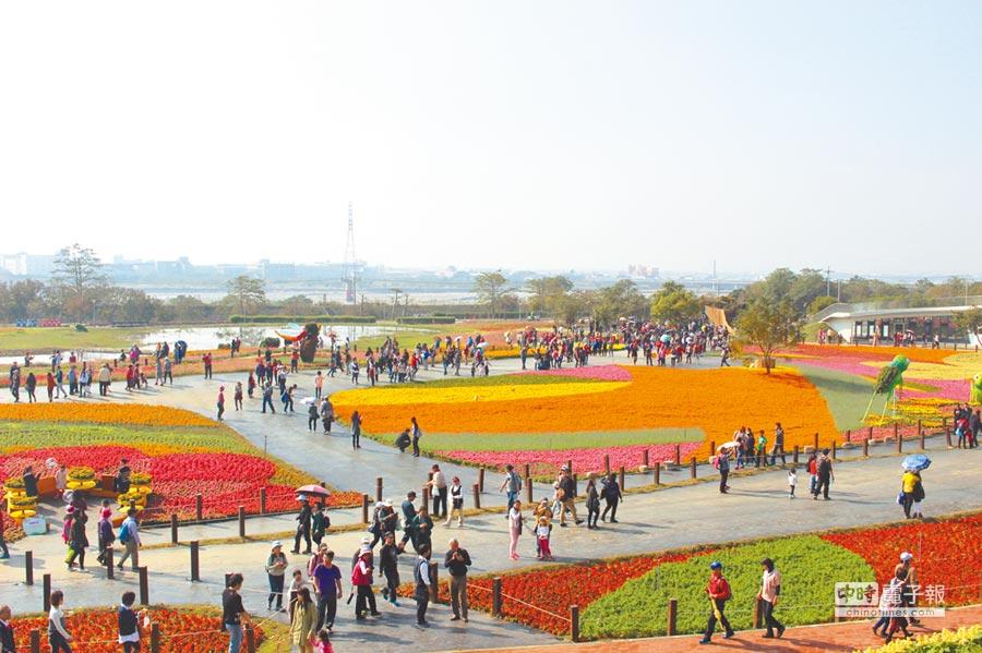 台中國際花毯節今年將返回新社,與新社花海「合體」登場。(本報資料照片)