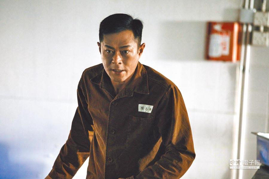 古天樂在《P風暴》為查案得入獄跟著打架。
