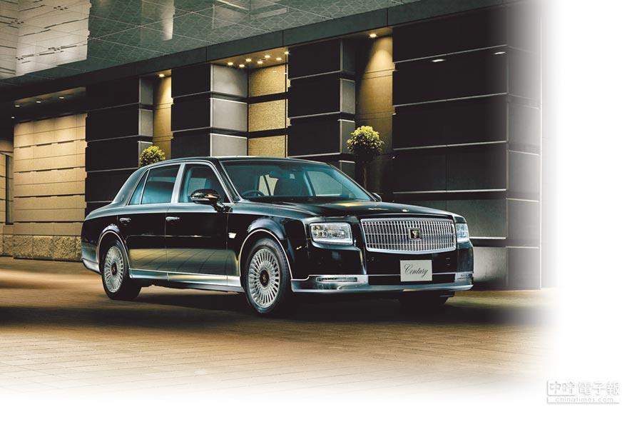TOYOTA已先後為日本皇家打造5台Century Royal皇家專用車,此圖為市售版本,售價1960萬日圓,約合新台幣550萬元。(TOYOTA提供)
