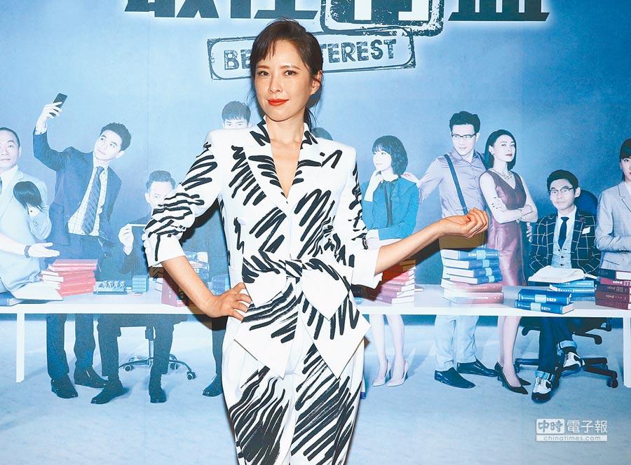 4月30日,演員天心出席《最佳利益》首映記者會。(本報系記者粘耿豪攝)