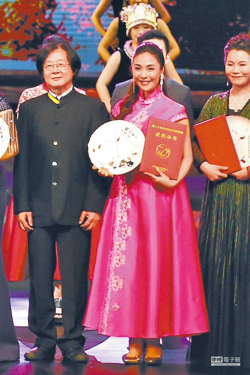 廣西演員哈丹是梅花獎獲獎者之一。(鄒財麟攝)
