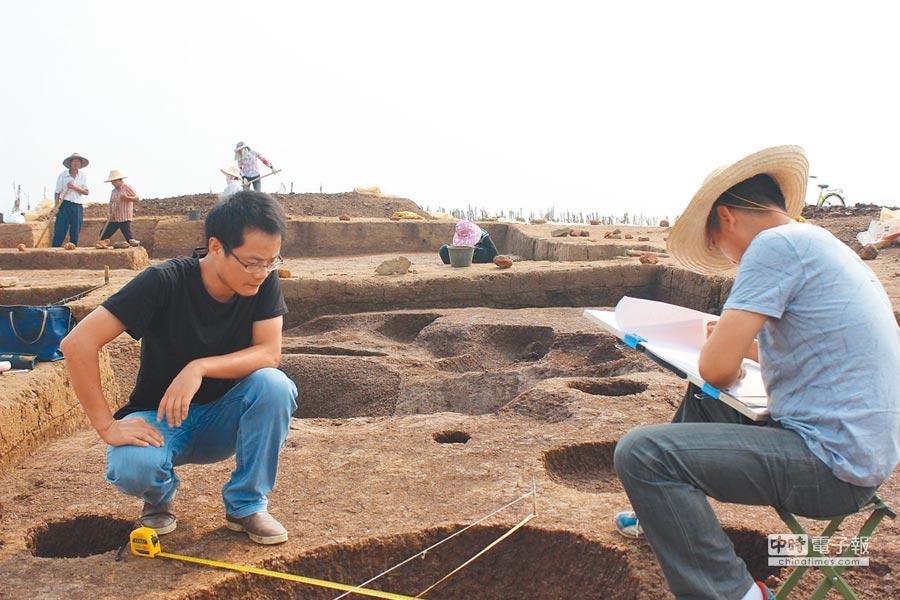 考古工作人員正在屈家嶺遺址保護區發掘現場。(中新社資料照片)